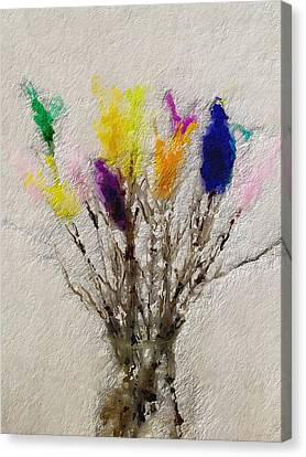 Easter Tree- Abstract Art By Linda Woods Canvas Print by Linda Woods