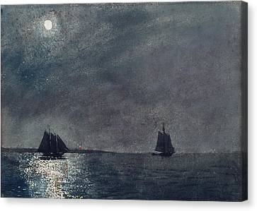 Eastern Point Light Canvas Print by Winslow Homer