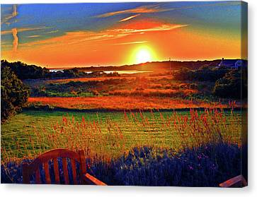Eat Fire Spring Road Polpis Harbor Nantucket Canvas Print by Duncan Pearson