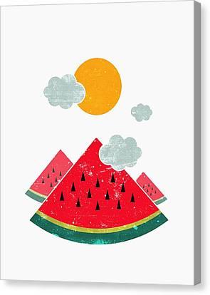 Eatventure Time Canvas Print by Mustafa Akgul