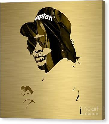 Eazy E Straight Outta Compton Canvas Print by Marvin Blaine