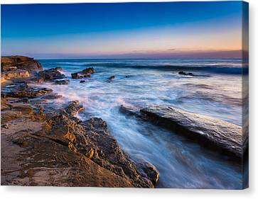 Ebb And Flow Canvas Print by Peter Tellone