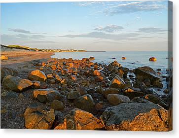Ebb Tide On Cape Cod Bay Canvas Print by Dianne Cowen