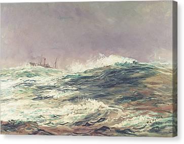 Ebb Tide Canvas Print by William Lionel Wyllie