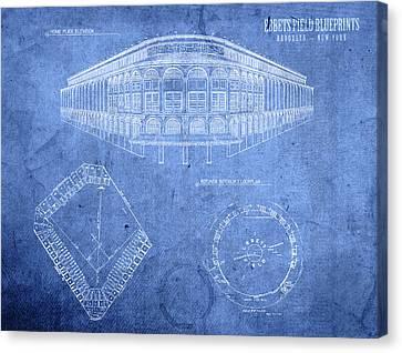 Ebbets Field Brooklyn Dodgers Baseball Field Blueprints Canvas Print by Design Turnpike