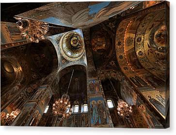Ecclesiastical Ceiling No. 2 Canvas Print by Joe Bonita