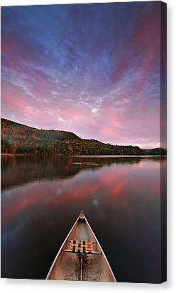 Echo Lake Sunset Canvas Print by Joseph Rossbach