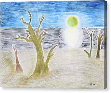 Eclipse..  Canvas Print by Adina Art