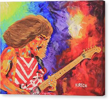 Eddie Van Halen Canvas Print by Robert Kirsch