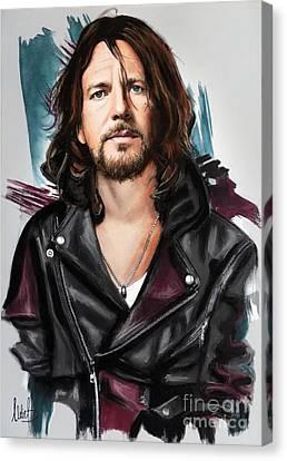 Eddie Vedder Canvas Print by Melanie D