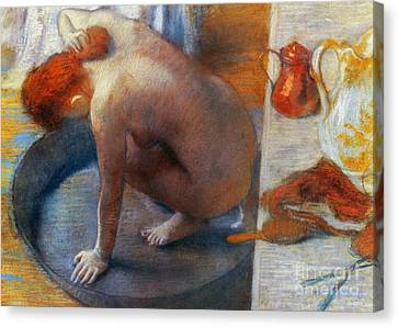 Edgar Degas: The Tub, 1886 Canvas Print by Granger