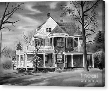 Edgar Home Bw Canvas Print by Kip DeVore
