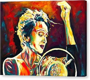 Edith Piaf- La Mome Canvas Print by Vel Verrept