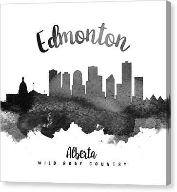 Edmonton Alberta Skyline 18 Canvas Print by Aged Pixel
