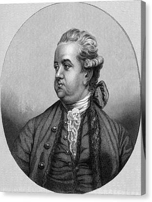 Edward Gibbon, English Historian Canvas Print by Middle Temple Library