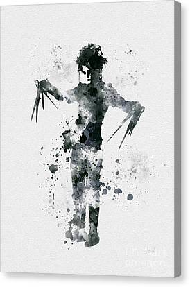 Edward Scissorhands Canvas Print by Rebecca Jenkins