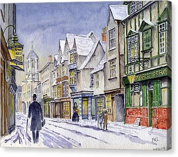 Edwardian St. Aldates. Oxford Uk Canvas Print by Mike Lester