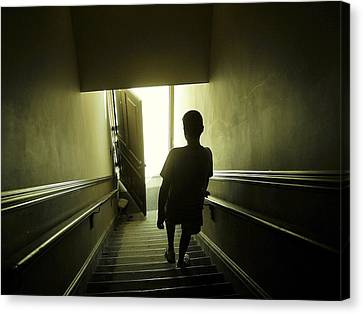 Eerie Stairwell Canvas Print by Scott Hovind