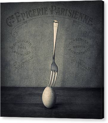 Egg And Fork Canvas Print by Ian Barber