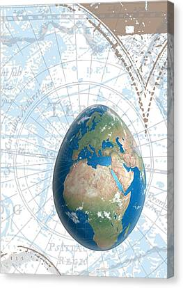 Egground The World Canvas Print by Francois Domain