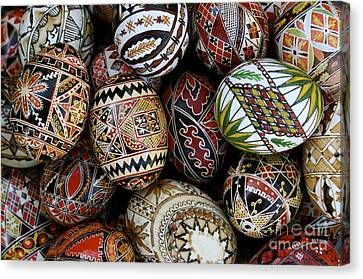 Eggs For Easter Canvas Print by Sophie De Roumanie