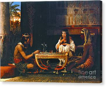 Egyptian Chess Players 1865 Canvas Print by Padre Art