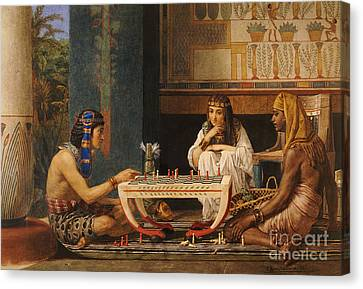 Egyptian Chess Players Canvas Print by Sir Lawrence Alma-Tadema