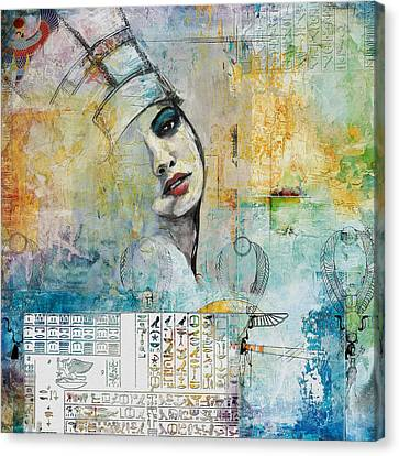 Egyptian Culture 74 Canvas Print by Maryam Mughal