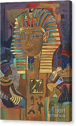 Egyptian Man Canvas Print by Debbie DeWitt