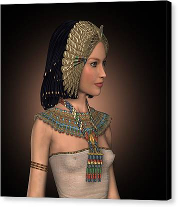 Egyptian Princess Canvas Print by David Griffith