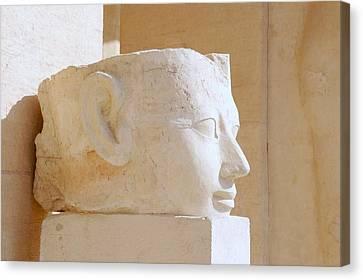 Egyptian Queen Hatchepsut Head Canvas Print by Sherry Pratt