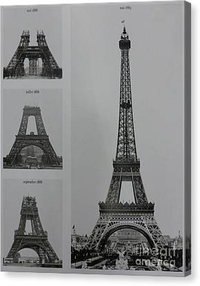 Eiffel Tower Contructions Canvas Print by To-Tam Gerwe