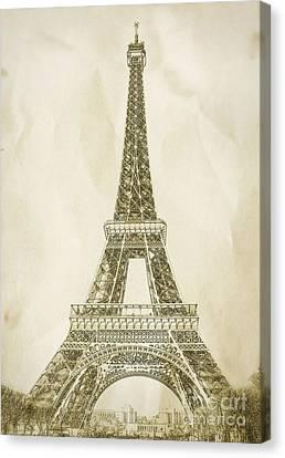Eiffel Tower Illustration Canvas Print by Paul Topp
