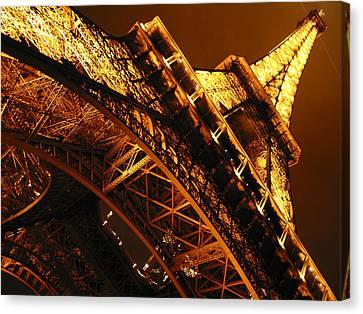 Eiffel Tower Paris France Canvas Print by Gene Sizemore