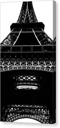 Eiffel Tower Paris Graphic Phone Case Canvas Print by Edward Fielding