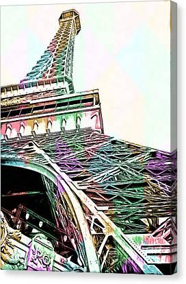 Eiffel Tower Rainbow Canvas Print by Edward Fielding
