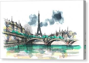 Eiffel Tower Canvas Print by Seventh Son
