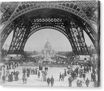 Eiffel Tower - World's Fair 1889 Canvas Print by War Is Hell Store