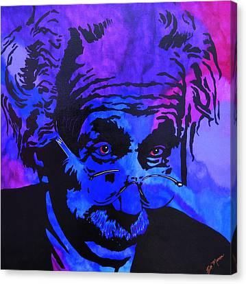 Einstein-all Things Relative Canvas Print by Bill Manson