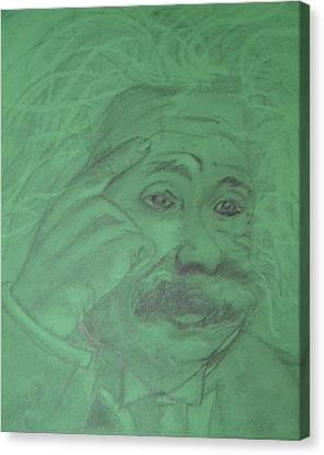 Einstein Canvas Print by Manuela Constantin