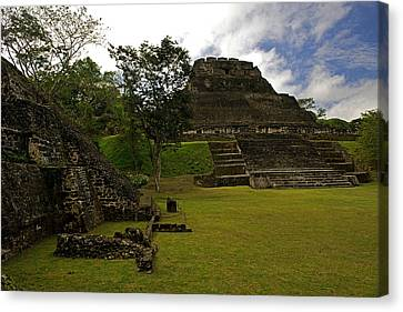 El Castillo Pyramid At Xunantunich Canvas Print by Panoramic Images