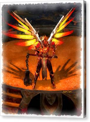 El Diablo  - Aquarell Style -  - Da Canvas Print by Leonardo Digenio
