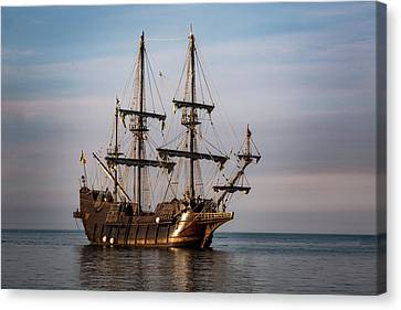 El Galeon Andalucia Tall Ship Canvas Print by Dale Kincaid
