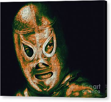 El Santo The Masked Wrestler 20130218 Canvas Print by Wingsdomain Art and Photography