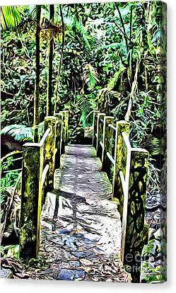El Yunque Bridge Canvas Print by Carey Chen