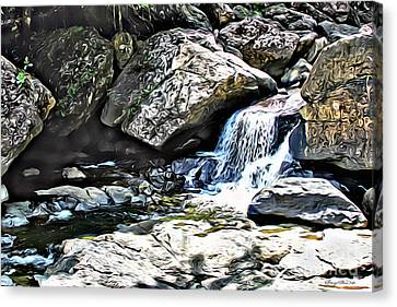 El Yunque Stream Canvas Print by Carey Chen