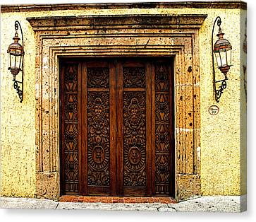 Elaborate Puerta Canvas Print by Mexicolors Art Photography