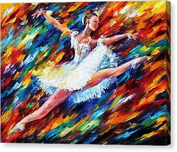 Elation - Palette Knife Oil Painting On Canvas By Leonid Afremov Canvas Print by Leonid Afremov