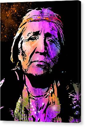 Elderly Hupa Woman Canvas Print by Paul Sachtleben