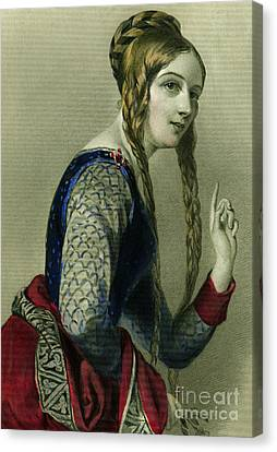 Eleanor Of Aquitaine, Queen Of Henry II Canvas Print by English School